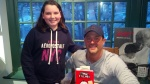 My daughter with Stephan Pastis