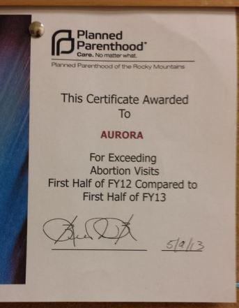 abortion award